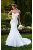 Открытые плечи свадебного платья