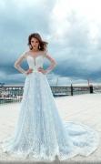 Пастельные оттенки свадебных платьев 2018
