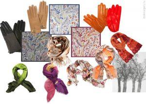 Как выглядеть красиво: шарфы и перчатки